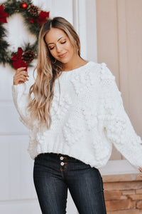 Solstice Knit Pom Pom Sweater