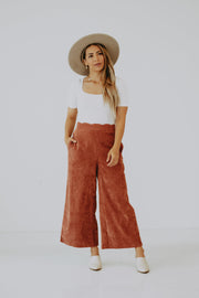 Rhea Scalloped Corduroy Pants