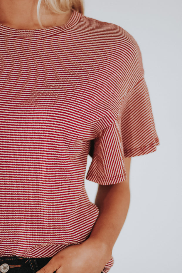 Emmy Seersucker Striped Top