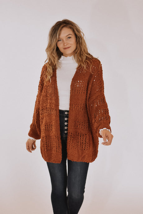 Easy Morning Cardigan in Rust