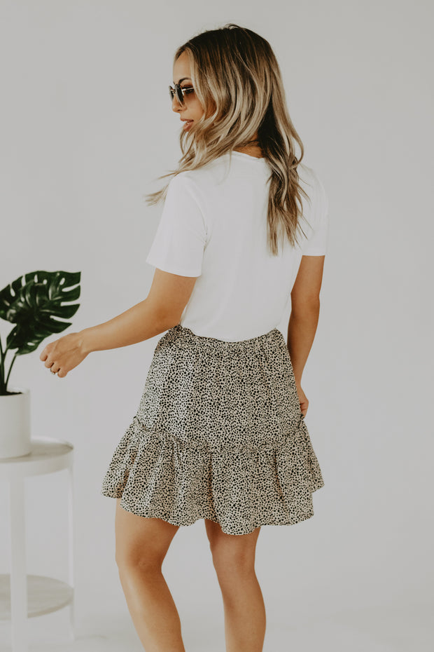 Safari Dot Skirt in Tan