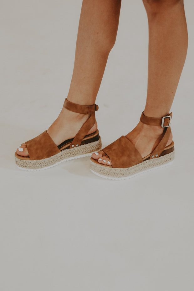 RESTOCK - Laguna Platform Sandals in Tan