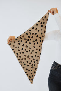 Taupe Leopard Scarf