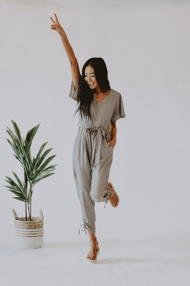 RESTOCK - Sweetest Thing Gingham Jumpsuit