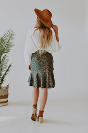 Shea Floral Ruffled Skirt