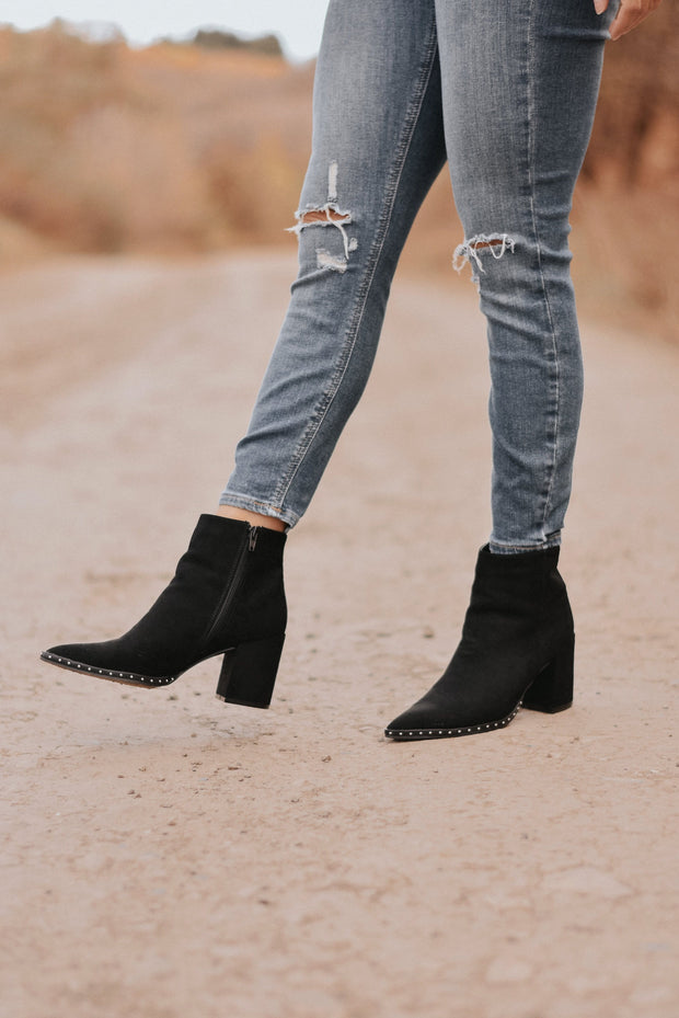 RESTOCK - Franco Studded Suede Booties