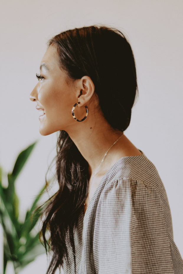Coco Tortoise Hoop Earrings