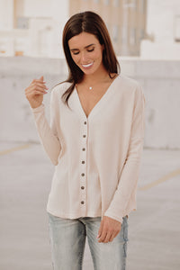 Lennox Top in Beige
