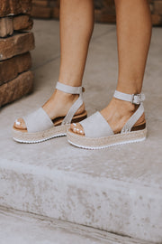 RESTOCK - Laguna Platform Sandals in Dove Grey