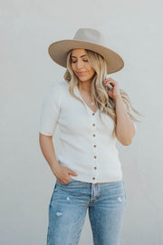 Joie Ribbed Top in Ivory