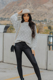 Lux Knit Sweater in Grey