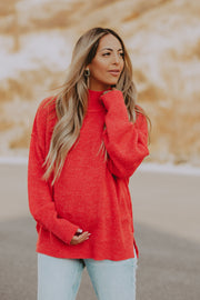 Highland Sweater in Tomato