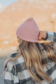 Wind and Weather Beanie in Dusty Pink