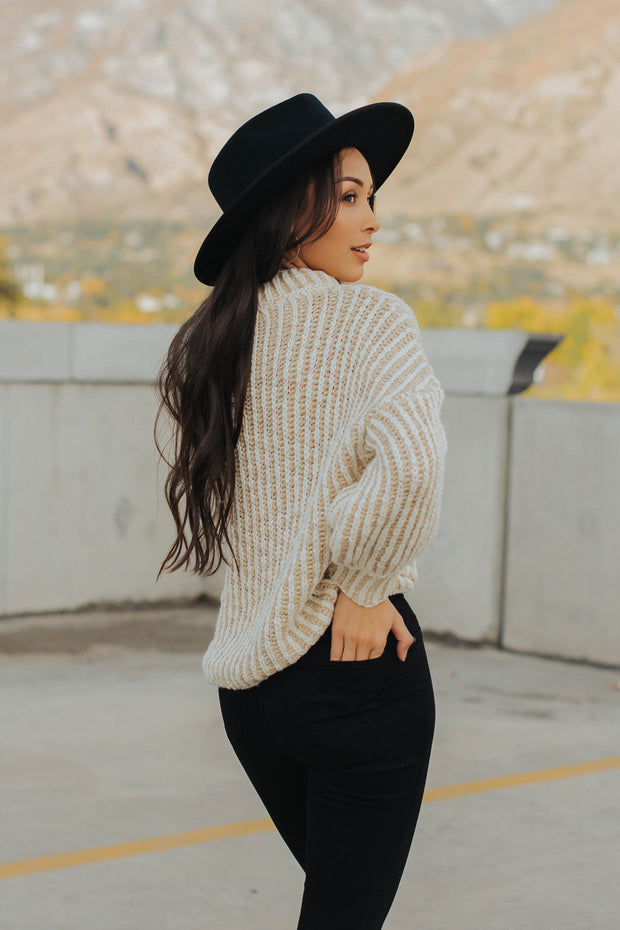 Lux Knit Sweater in Beige