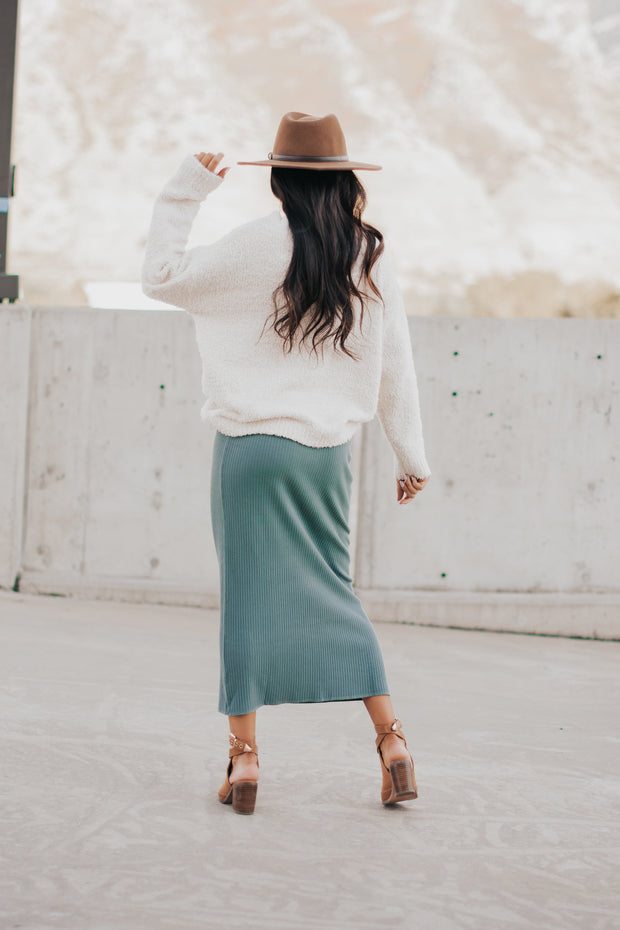 Willow Ribbed Midi Skirt - RESTOCK