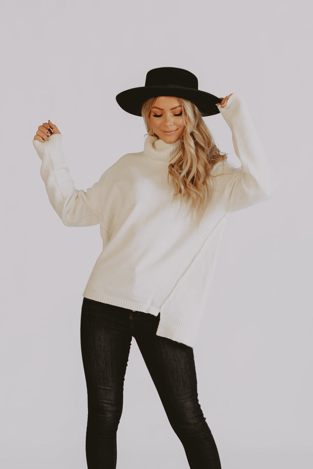 Cuddle Up Sweater in Ivory