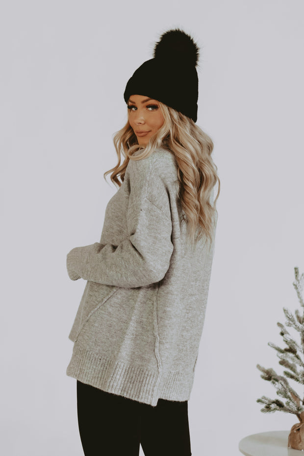 Cuddle Up Sweater in Grey