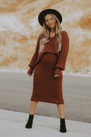 Bethany Sweater Set in Marsala