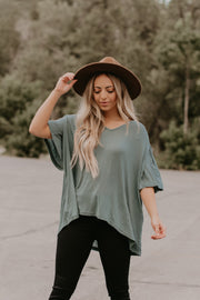 Cass Flutter Sleeve Top