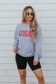 USA Pullover in Gray
