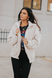 Bronte Sherpa Jacket in Cream