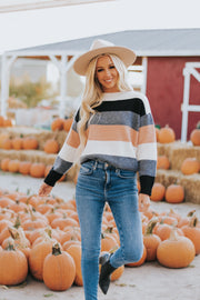 Indie Color Block Sweater