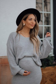 Bethany Sweater Set in Grey