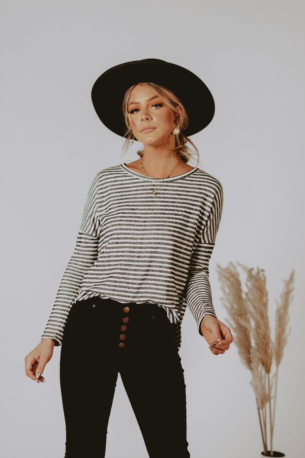 Spence Textured Stripe Top