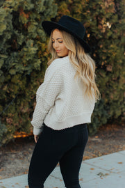 Honeycomb Chenille Sweater