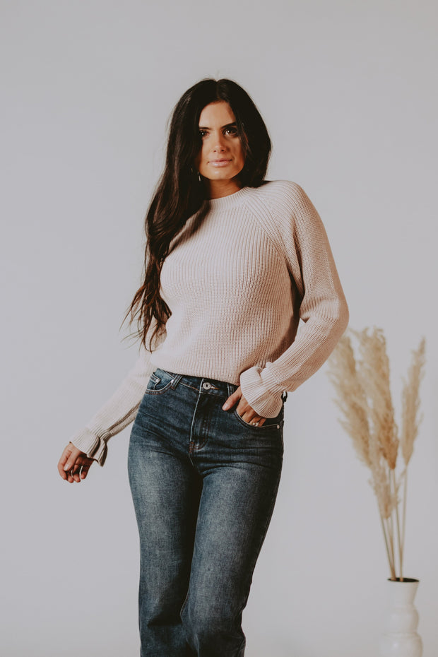 Giselle Ruffle Sleeve Sweater