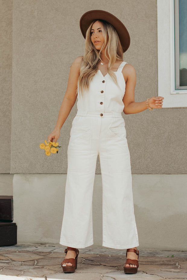 Maude Jumpsuit in Natural