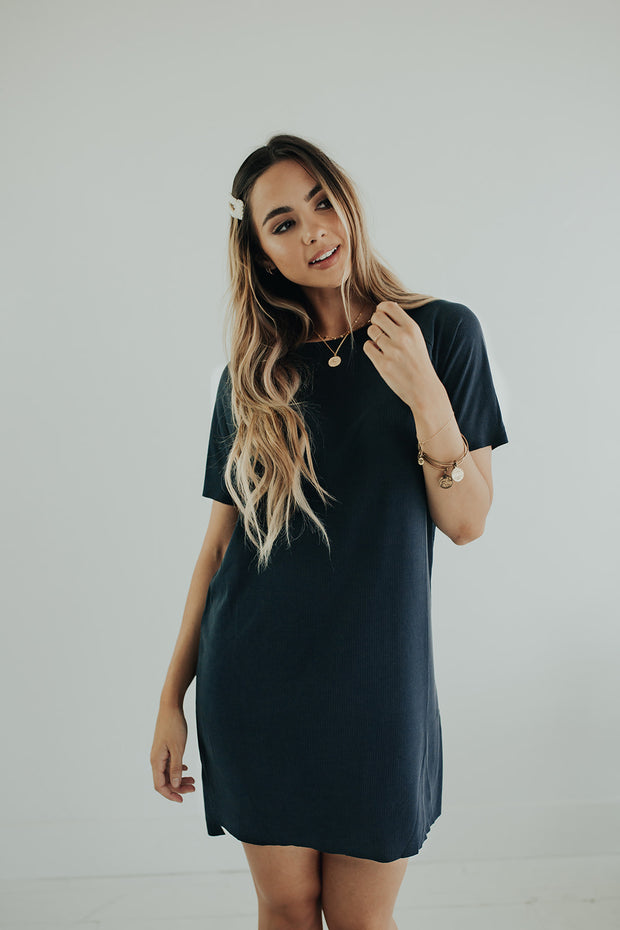 Go-to Dress in Charcoal