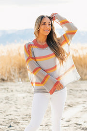 Spring Color Stripe Sweater
