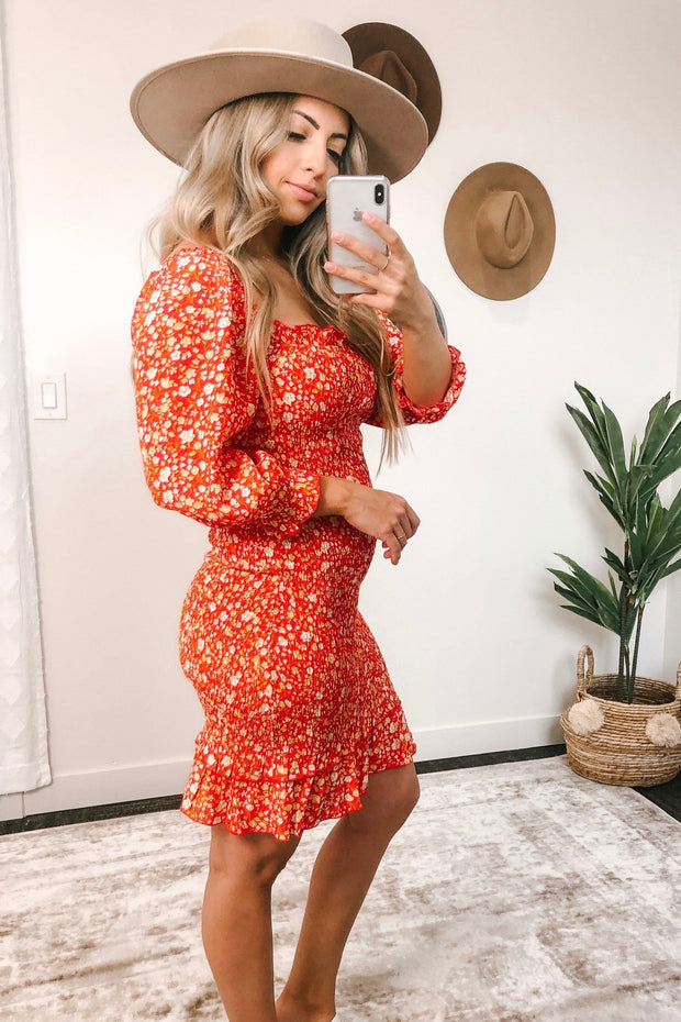 Cherry on Top Floral Smocked Dress