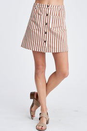Stripe Mini Skirt / Junior