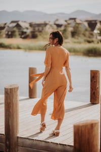 Vienna Jumpsuit in Caramel