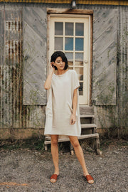 Lena Linen Dress in Oatmeal