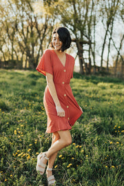 Casablanca Dress in Coral