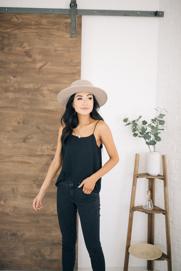 Scalloped Camisole in Black