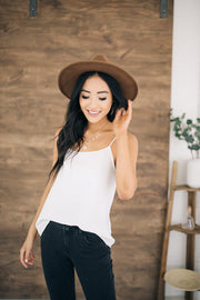 Scalloped Camisole in Off-white