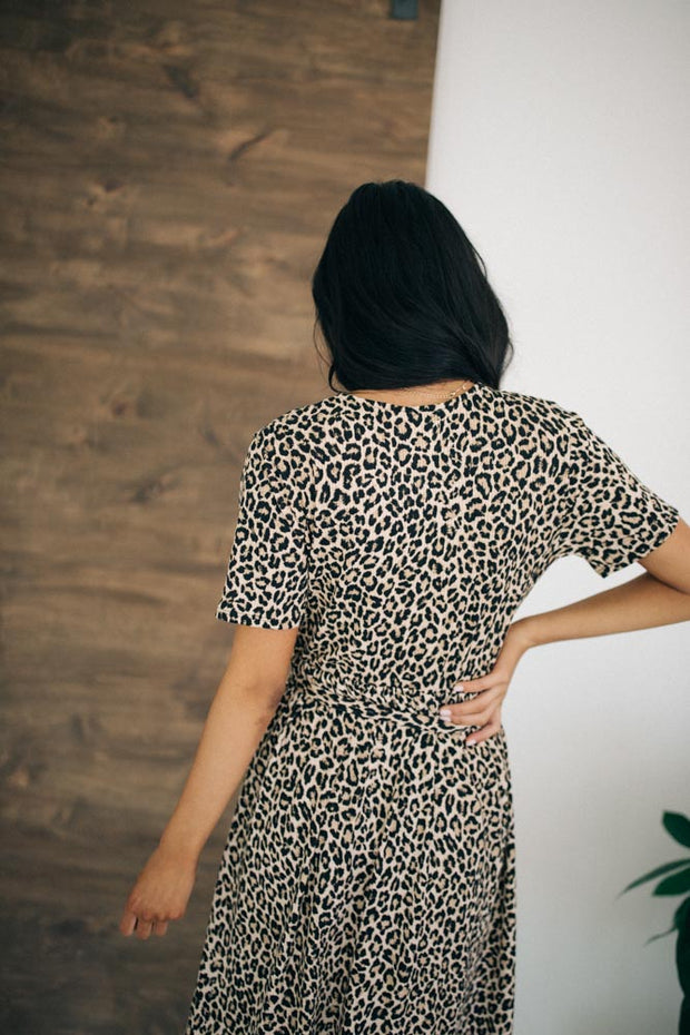 Gia Leopard Dress - RESTOCK