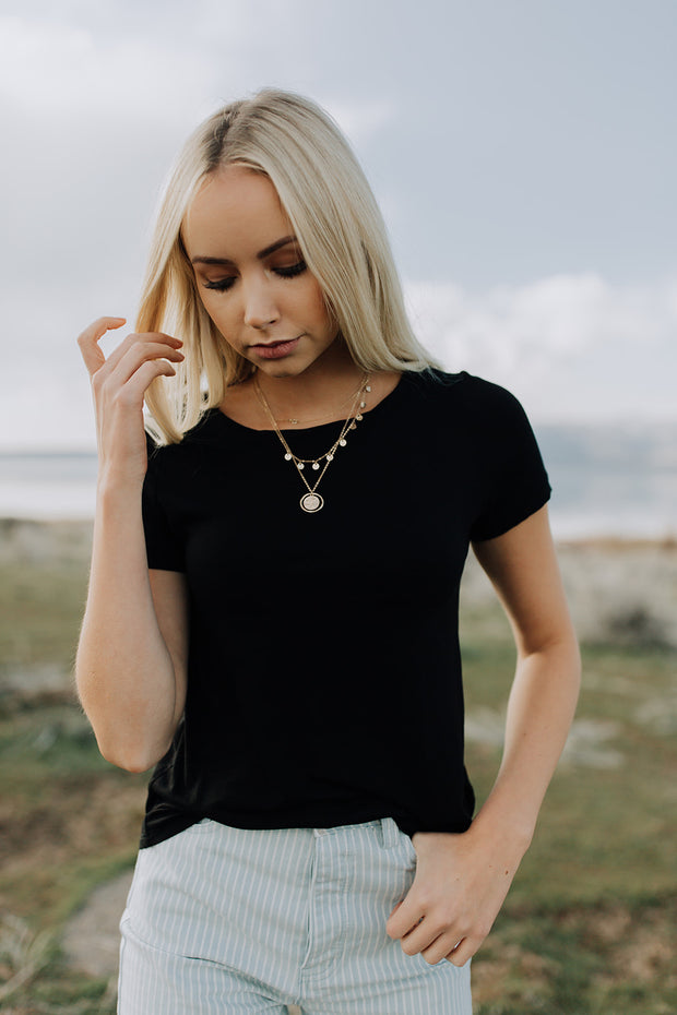 Tobi Basic Black Tee
