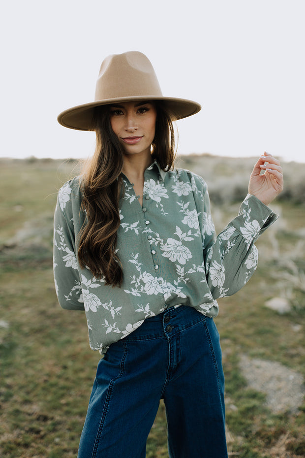 April Floral Button Up Shirt