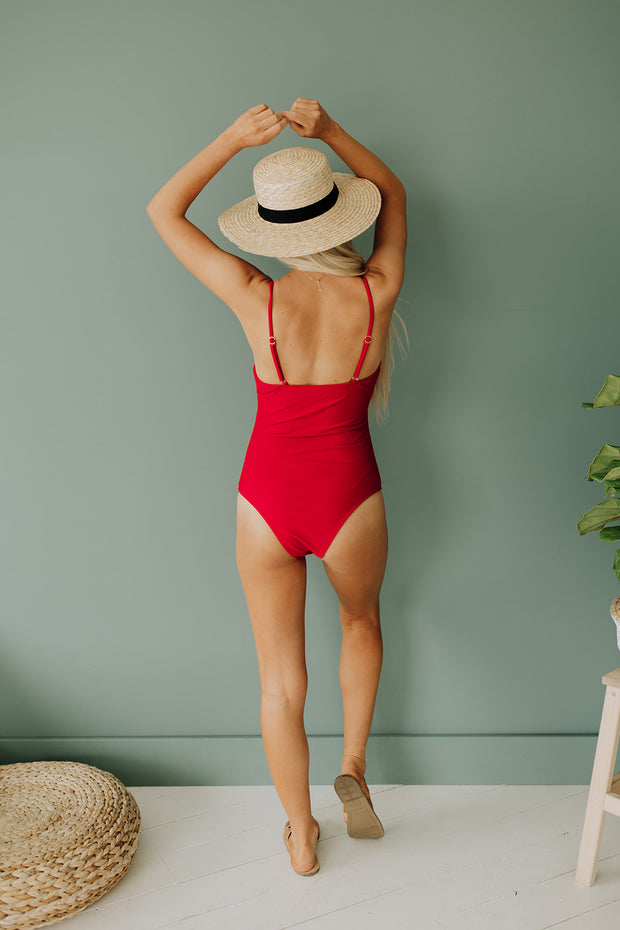 Takin' Time Swimsuit in Red