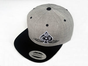 SCJ Classic 2-Tone Light Heather Snapback