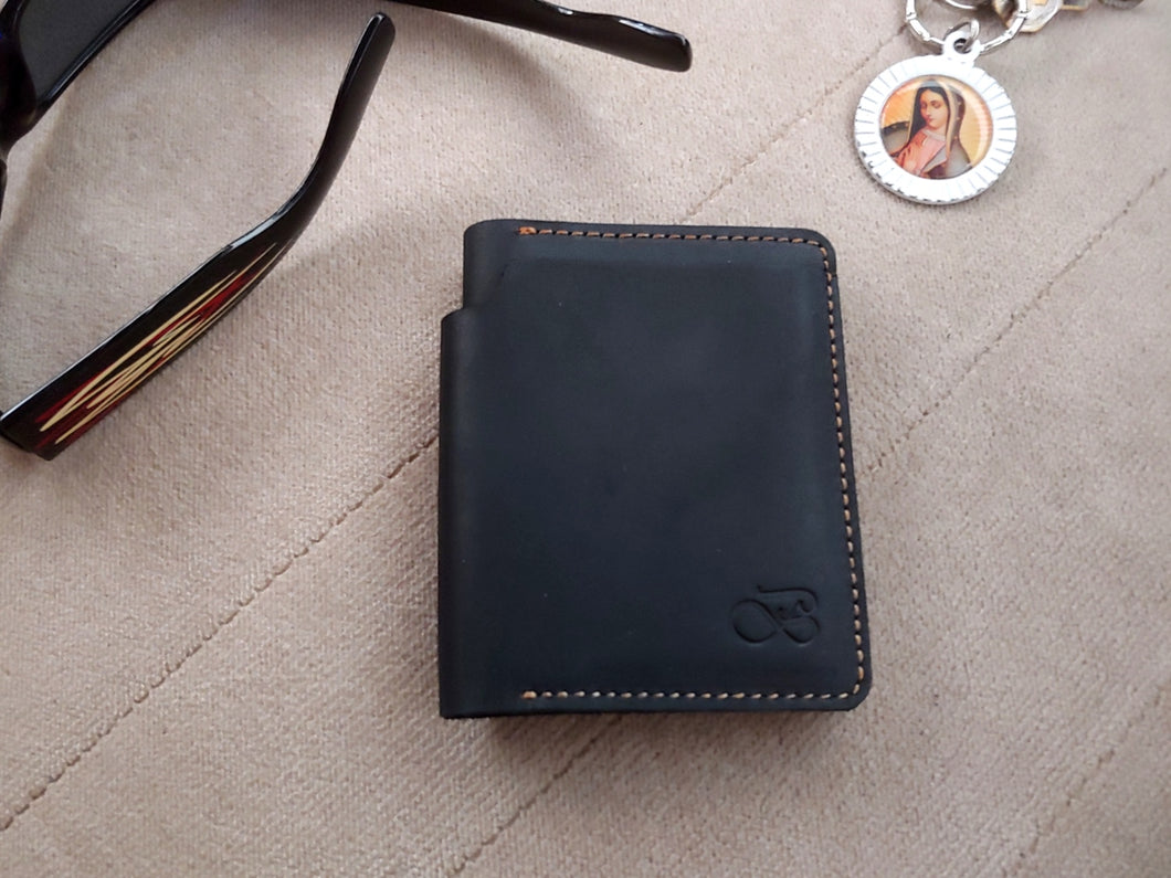 Baurdi Back Pocket Full Leather Bi-fold Wallet
