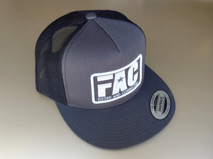 FAC Trucker (Charcoal/Black and White)
