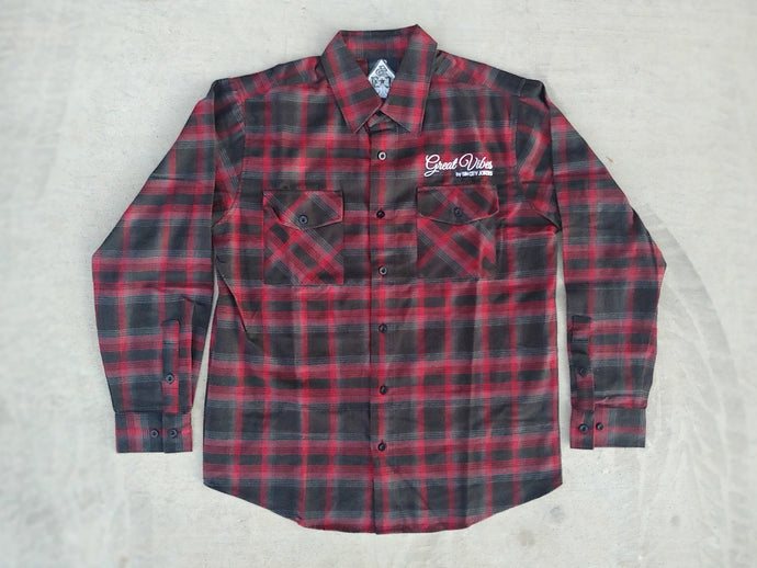 SCJ Flannel (Red, Gray & Black Plaid)