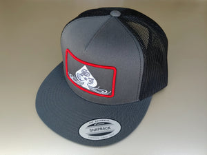 SCJ Classic Charcoal/Black Trucker (Red and White)