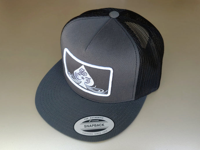 SCJ Classic Charcoal/Black Trucker (White)